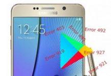 Samsung Galaxy Note 5 Play Store hataları