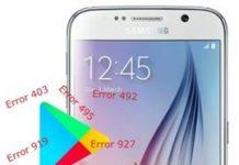 Samsung Galaxy S6 Play Store hataları