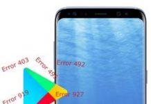Samsung Galaxy S8 Play Store hataları