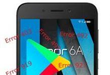 Huawei Honor 6A Google Play hataları