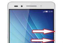 Huawei Honor 7 ekran görüntüsü alma