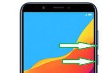 Huawei Honor 7C ekran görüntüsü alma
