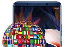 Huawei Mate 10 Pro dil değiştirme