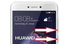 Huawei P8 Lite 2017 ekran görüntüsü alma