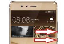 Huawei P9 Plus ekran görüntüsü alma