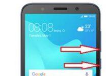 Huawei Y5 Prime 2018 ekran görüntüsü alma