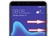 Huawei Y9 2018 ekran görüntüsü alma