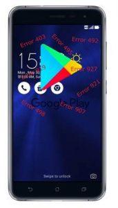 Asus Zenfone 3 ZE552KL Google Play Store hataları