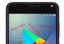 Asus Zenfone 4 Max ZC520KL Google Play Store hataları
