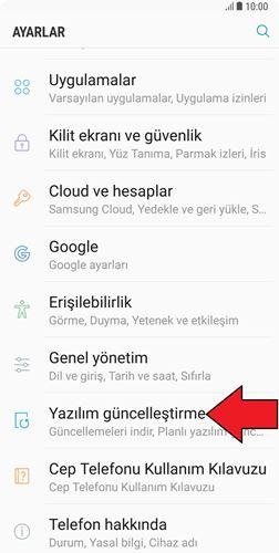 Samsung Güncelleme