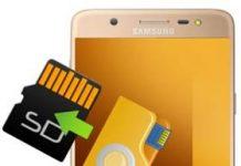 Samsung Galaxy J7 Max dosyaları SD karta taşıma