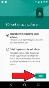 General Mobile SD kart biçimlendirme