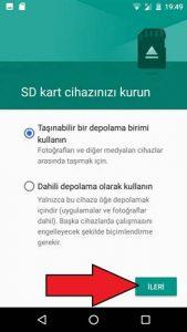 General Mobile SD kart biçimlendirme