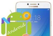 Samsung Galaxy C7 Pro Android sürümü öğrenme