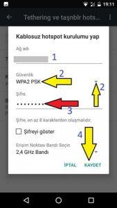 General Mobile internet paylaşımı