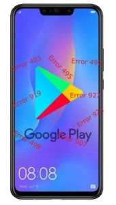 Huawei P Smart Plus Google Play Store hataları