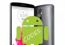LG G3 kodlar