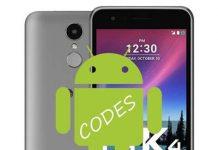 LG K4 2017 kodlar