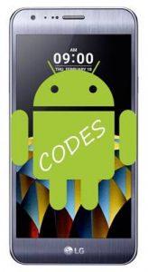 LG X Cam kodlar