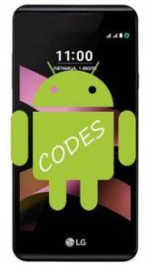 LG X Style kodlar