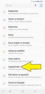 Samsung geliştirici seçenekleri kapatma