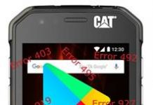 CAT S31 Google Play Store hataları