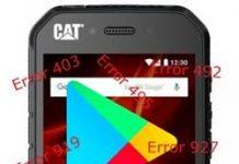 CAT S41 Google Play Store hataları