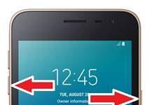 Samsung Galaxy J2 Core ekran görüntüsü alma