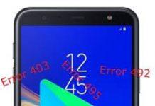Samsung Galaxy J4 Core Google Play hataları