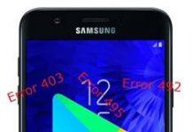 Samsung Galaxy J7 2018 Google Play hataları