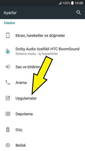 HTC gelen arama ekranı