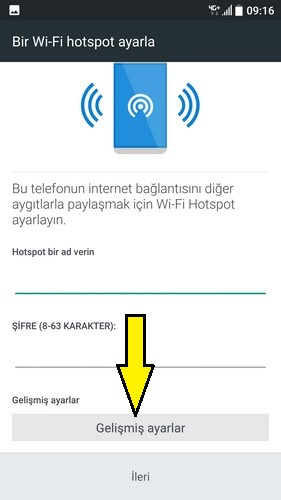 HTC internet paylaşımı Wi-Fi hotspot