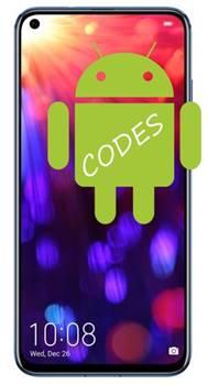 Huawei Honor V20 kodlar