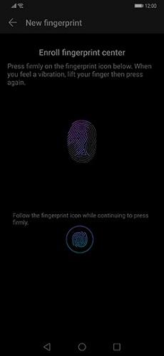Huawei parmak izi ekleme ve silme