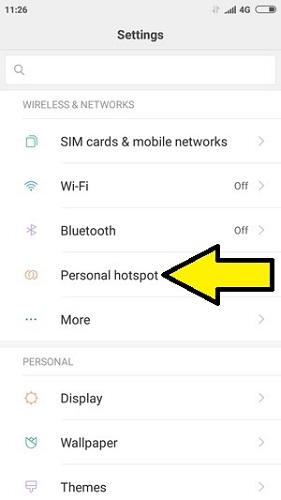 Xiaomi internet paylaşımı wi-fi hotspot