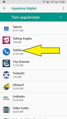 Xiaomi gelen arama ekranı gösterme