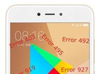 Xiaomi Redmi Note 5A Google Play Store hataları