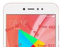 Xiaomi Redmi Note 5A Prime Google Play Store hataları