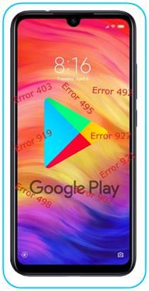 Xiaomi Redmi Note 7 Pro Google Play hataları