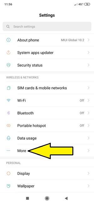Xiaomi ağ ayarları