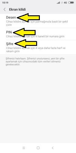Xiaomi ekran kilidi ekleme ve kaldırma