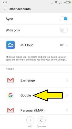 Xiaomi veri yedekleme