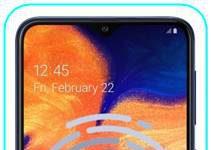 Samsung Galaxy A10 parmak izi ekleme