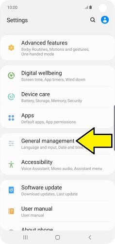 Samsung dil değiştirme