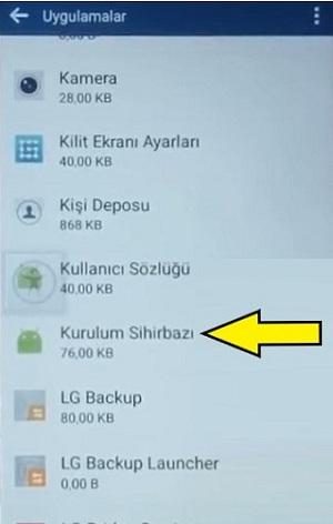 LG Sıfırlama Sonrası Gmail Ekranını Geçme