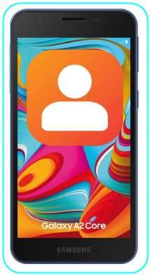 Samsung Galaxy A2 Core rehberi aktarma