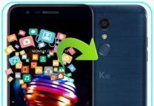 LG K10 2018 veri yedekleme