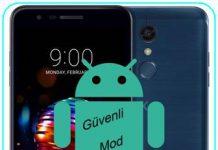 LG K10 2018 güvenli mod