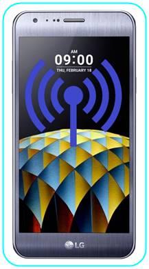 LG X Cam WiFi hotspot