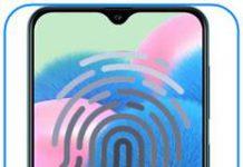 Samsung Galaxy A30s parmak izi